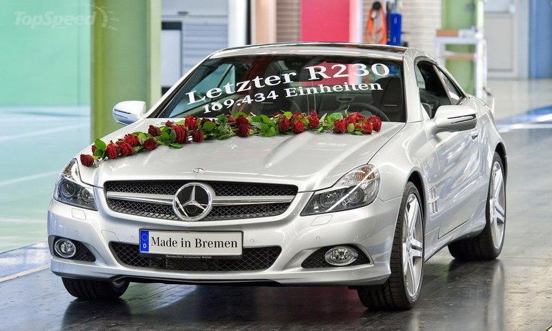 Mercedes-Benz прекращает производство автомобилей SL-класса R230