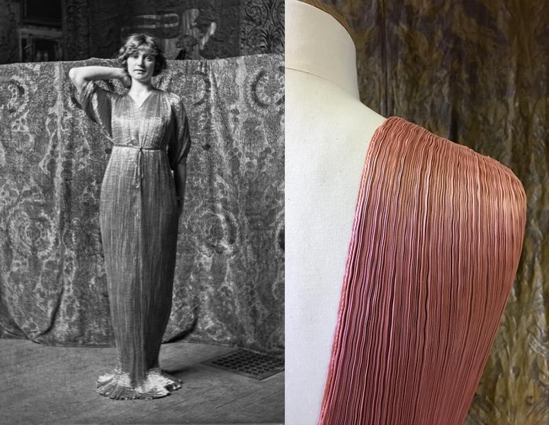 Модель в платье Delphos, ок. 1920