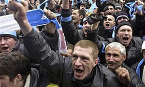 Центр Киева перекрыт протестующими против роста транспортного налога