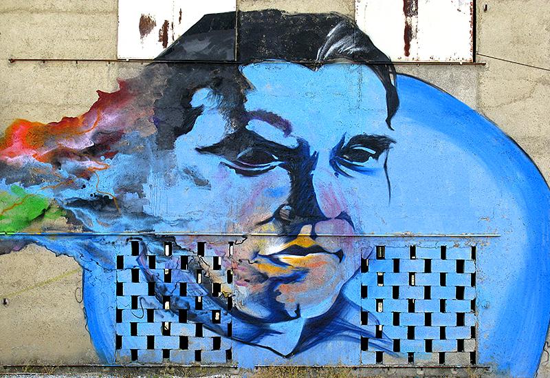 Граффити в Андалусии, изображающееФедерико ГарсиюЛорку