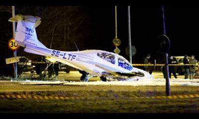 Неопытный пилот самолета устроил ДТП в Швеции