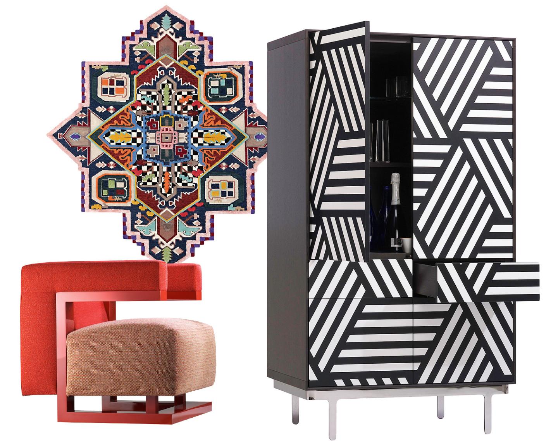 Кресло F51, дизайн Вальтера Гропиуса интерпретирован Катрин Грайлинг для Tecta;ковер TabrizDestroyer, дизайнcc-tapis Design-Lab;шкаф ALESSANDRO I-II-III, дизайн Вильяма Савайи для Sawaya & Moroni