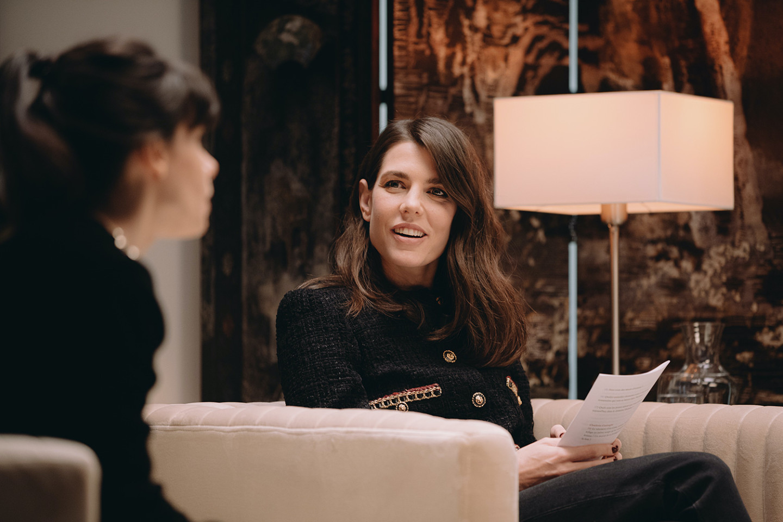 Шарлотта Казираги на встрече литературного клуба «Rendez-vous littéraires rue Cambon», 2021