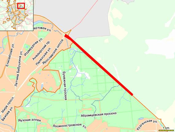 МКАД: от 100 км МКАД до Ярославского шоссе