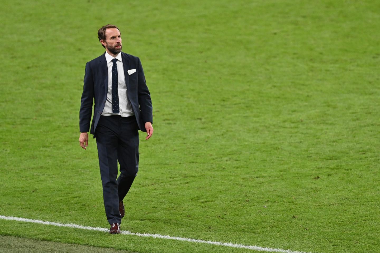 Гарет Саутгейт на полуфинальном матче между Англией и Данией, 7 июля