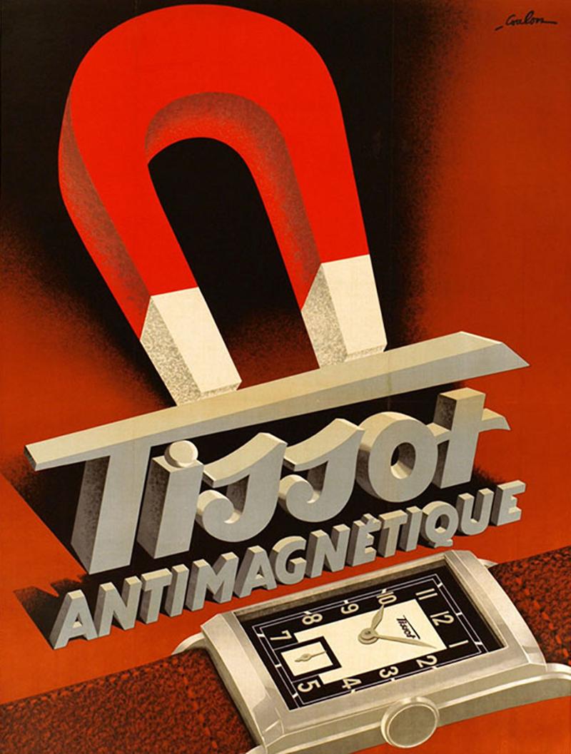Первые антимагнитные часы Tissot, 1930
