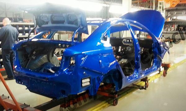 На «ИжАвто» началась покраска пилотной партии Lada Vesta