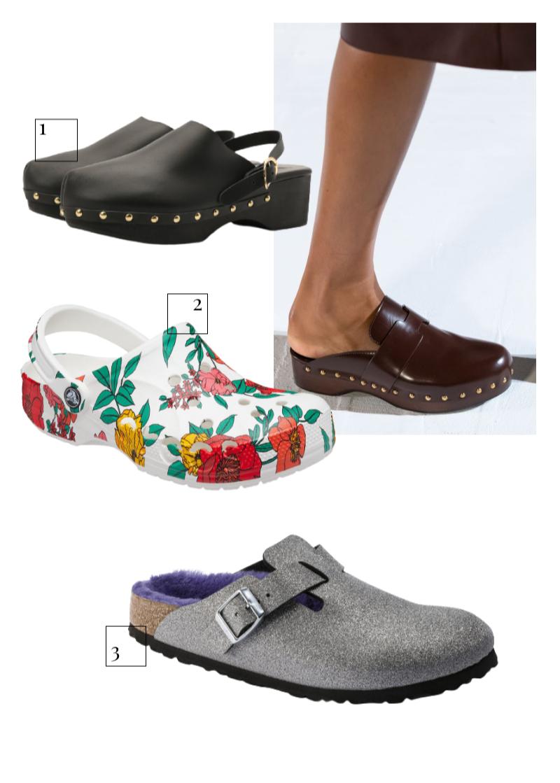 Hermès, весна-лето 2021  1.Сабо Ancient Greek Sandals, 29 950 руб. (ЦУМ) 2.Сабо Crocs, 3999 руб. (Crocs) 3.Сабо Birkenstock, 8095 руб. (Birkenstock)
