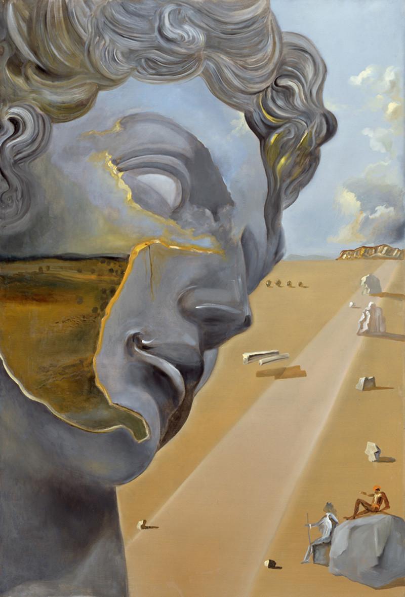 Сальвадор Дали. «Без названия», 1982. По мотивам скульптуры «Джулиано Медичи» Микеланджело