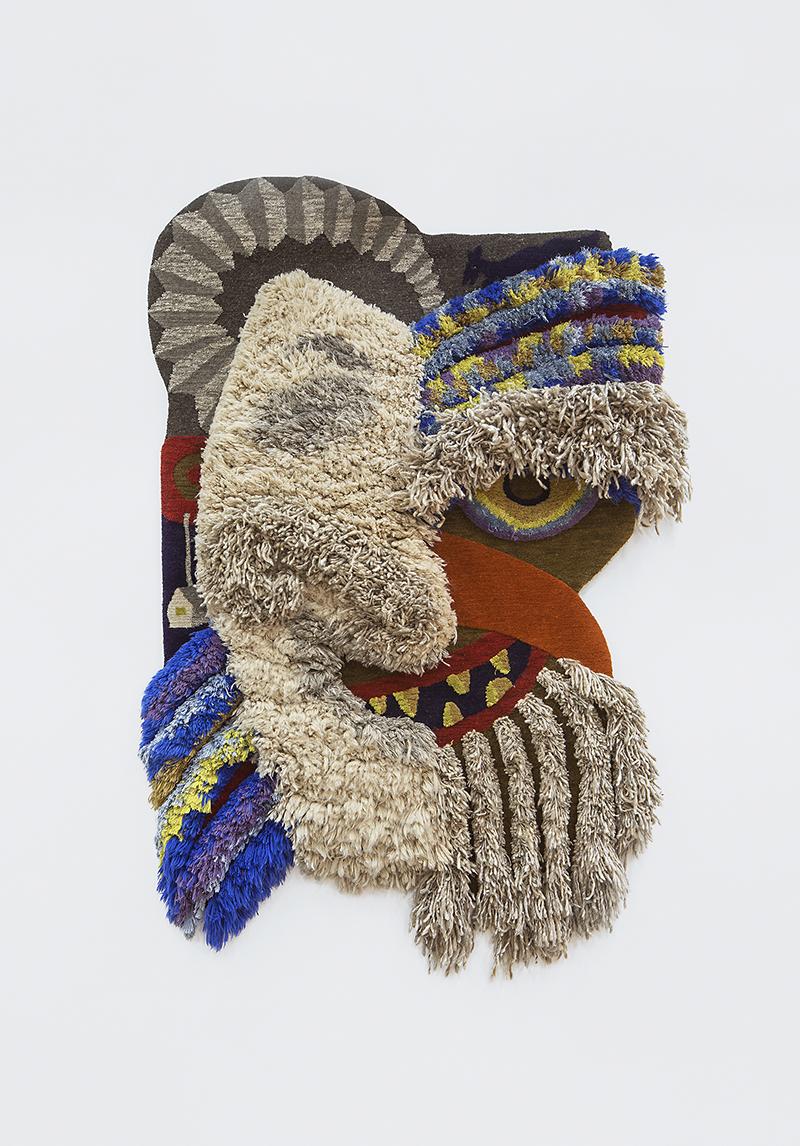 Кристоф Хефти, ковер Swiss Mask. Галерея Maniera на ярмарке коллекционного дизайна Design Miami/Basel 2019