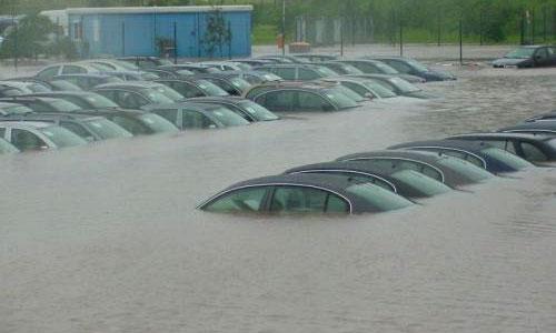 Наводнение парализовало движение в Калининграде