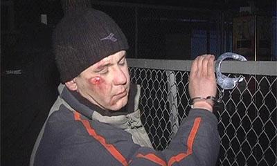 Задержанный находился в сильном алкогольном опьянении