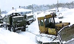 Транскавказская магистраль закрыта для грузовиков из-за снега