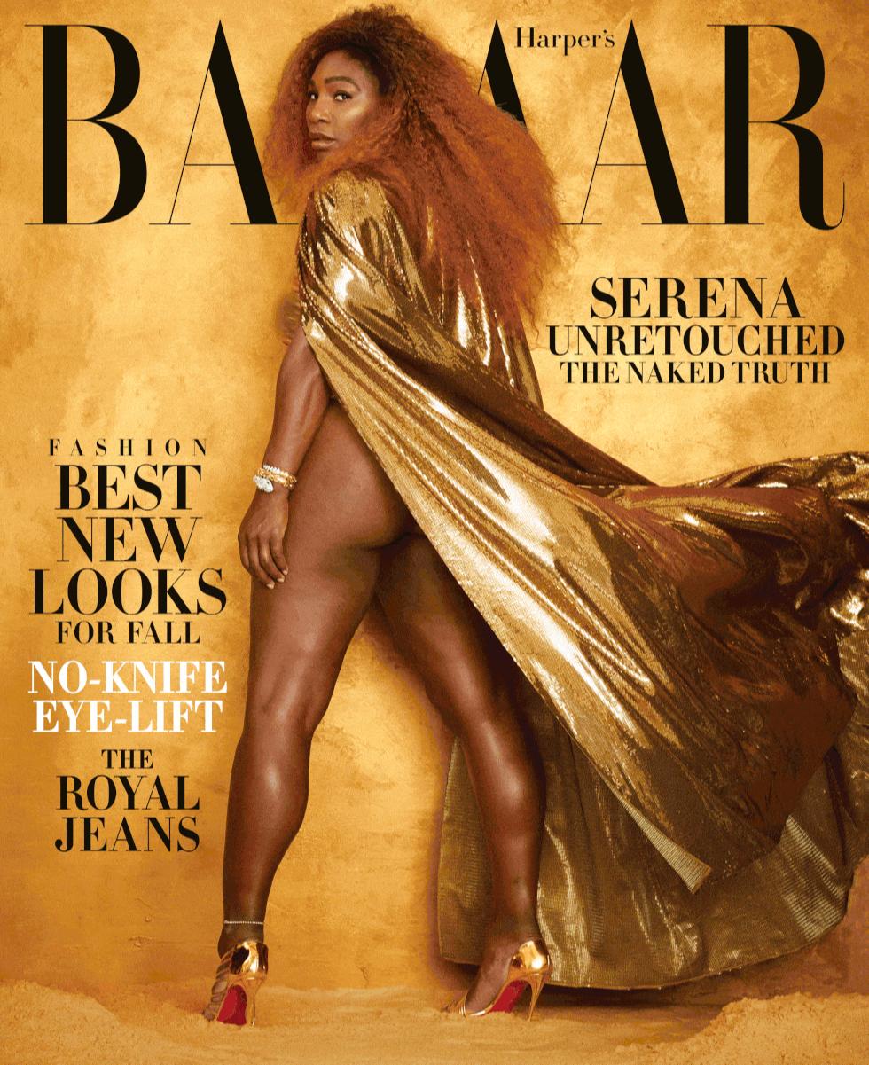 Серена Уильямс на обложке американского Harper's Bazaar, август 2019