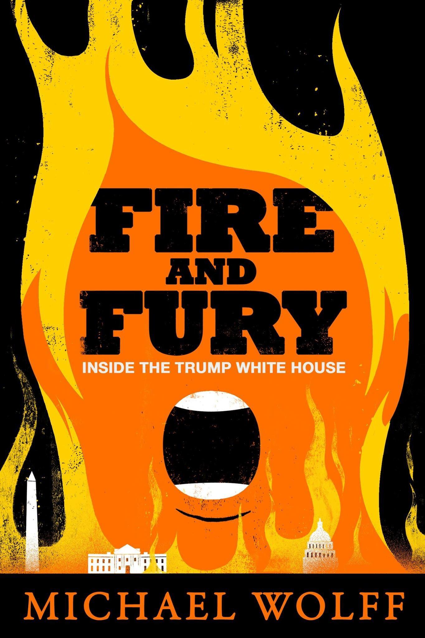 Обложка книги Майкла Вульфа «Пламя и ярость»