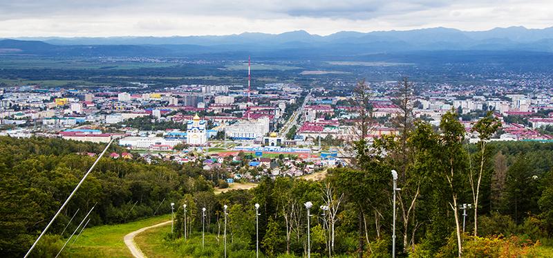Вид с горы Большевик