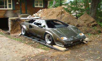 Американец Кен Имхоф построил в собственном подвале точную копию суперкара Lamborghini Countach