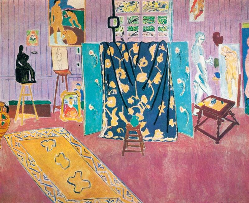 Анри Матисс.«Мастерская художника» («Розовая мастерская»), 1911