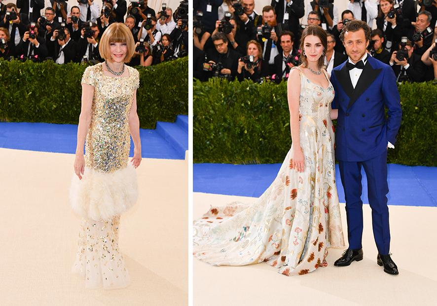 Анна Винтур в Chanel Haute Couture Би Шаффер в Alexander McQueen и Франческо Карроззини
