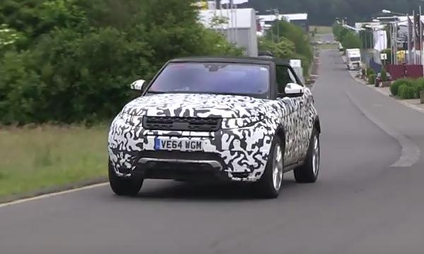 Range Rover привез кабриолет Evoque на Нюрбургринг