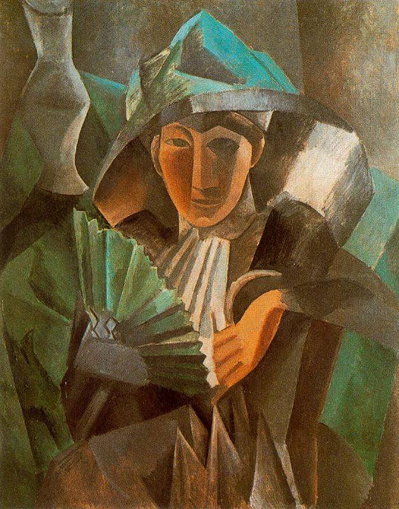 Пабло Пикассо. «Женщина с веером», 1909