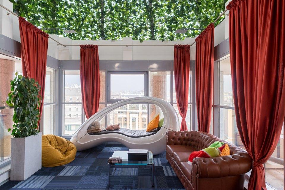 Комната отдыха и сна в Google