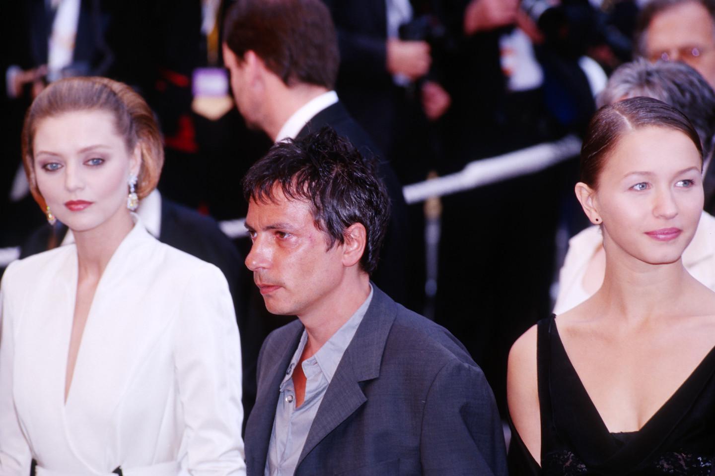 Екатерина Голубева, Леос Каракс и Дэльфин Шийо на Каннском фестивале1999 года. Фильм «Пола X» был номинирован на «Золотую пальмовую ветвь»