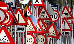 С  ДТП будут бороться при помощи особых дорожных знаков