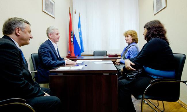 Мэр Москвы Сергей Собянин на встрече с жителями Северо-Восточного административного округа