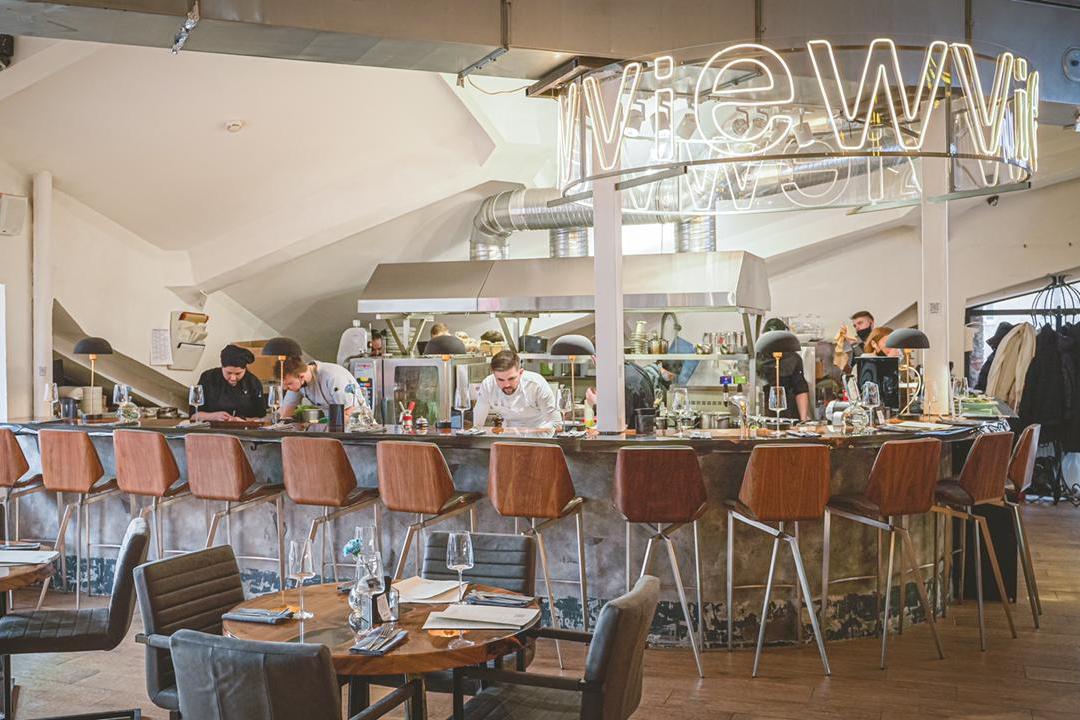 Зона Chef's table в фудкорнере VIEW