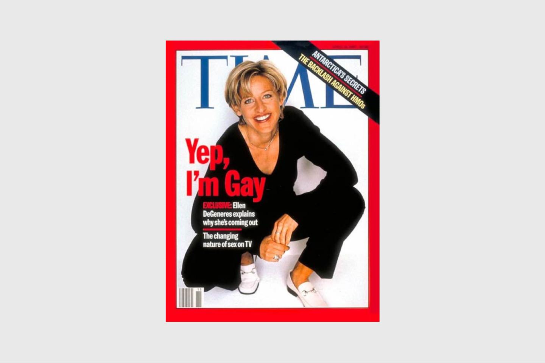 Историческая обложка журнала Time с каминг-аутом Дедженерис