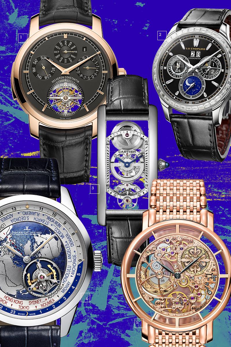 1 | Vacheron Constantin; 2 | Chopard; 3 | Cartier; 4 | Jaeger-LeCoultre; 5 | Patek Philippe