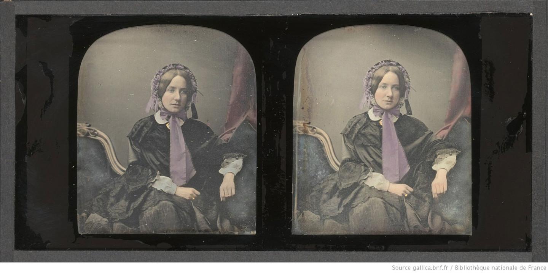 Антуан Клоде, без названия, 1852–1858. Дагеротип, стереофотография, подкраска. Национальная библиотека Франции, Париж