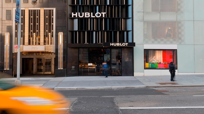 Вход в магазин Hublot со стороны Пятой Авеню, Нью-Йорк
