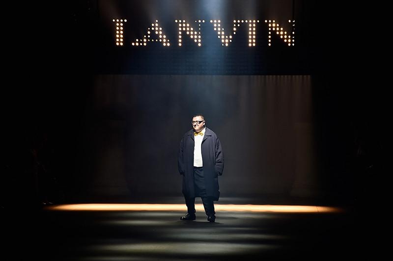 Альбер Эльбаз на показе коллекции Lanvin сезона весна-лето 2016