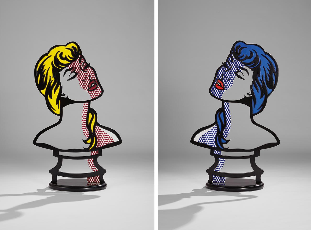 Рой Лихтенштейн. «Женщина: солнечный свет — лунный свет»