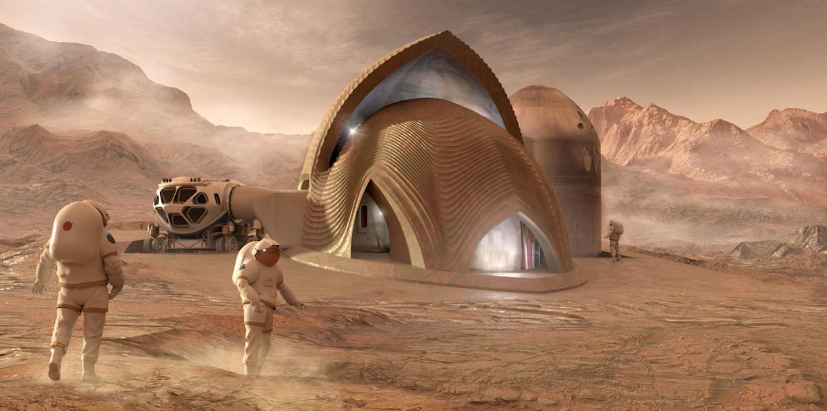 Проект компании SEArch+ / Apis Cor по колонизации Марса — участник 3D-конкурса NASA Mars Habitat