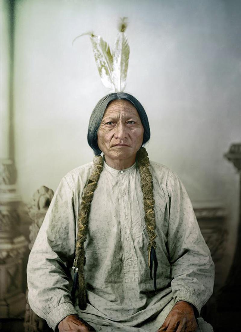 Индейский вождьСидящий Бык