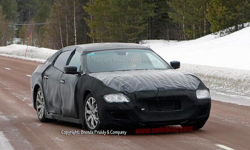 Maserati Quattroporte нового поколения впервые попался фотографам
