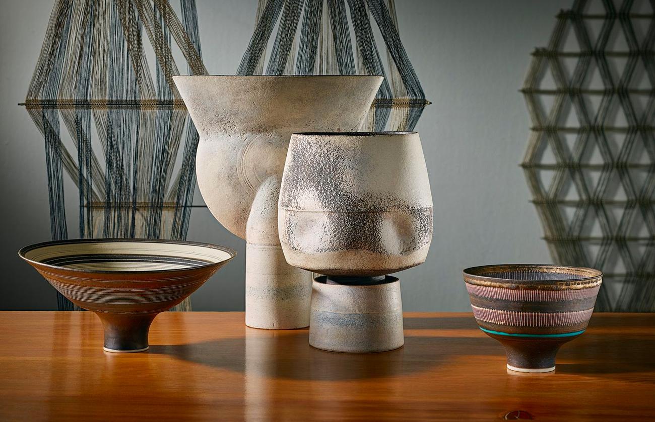 Ceramic works, Lucie Rie, Hans Coper & Peter Collingwood