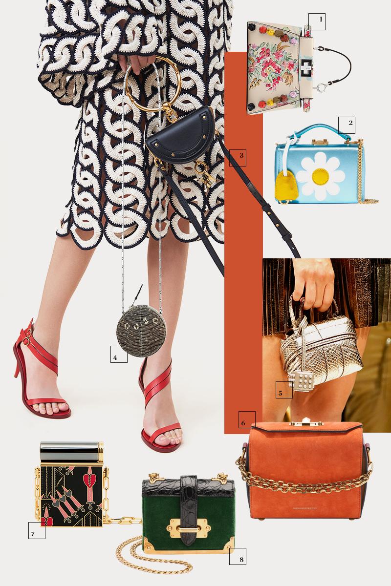 1 | Fendi; 2 | Mark Cross; 3 | Chloé; 4 | Hermès; 5 | Tod's; 6 | Alexander McQueen; 7 | Valentino; 8 | Prada