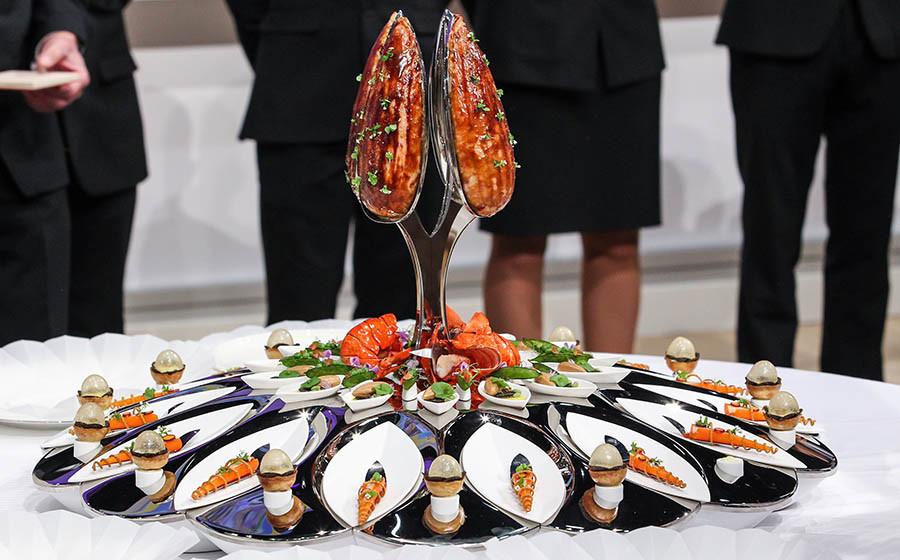Блюдо, представленное командой США в финале конкурса Bocuse d'Or, 2017