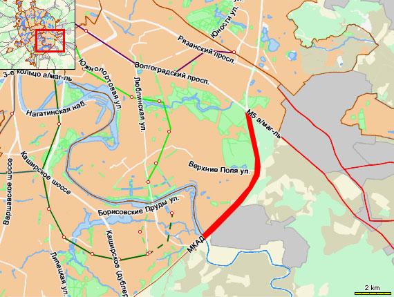 МКАД: от Волгоградского проспекта до Беседенского путепровода