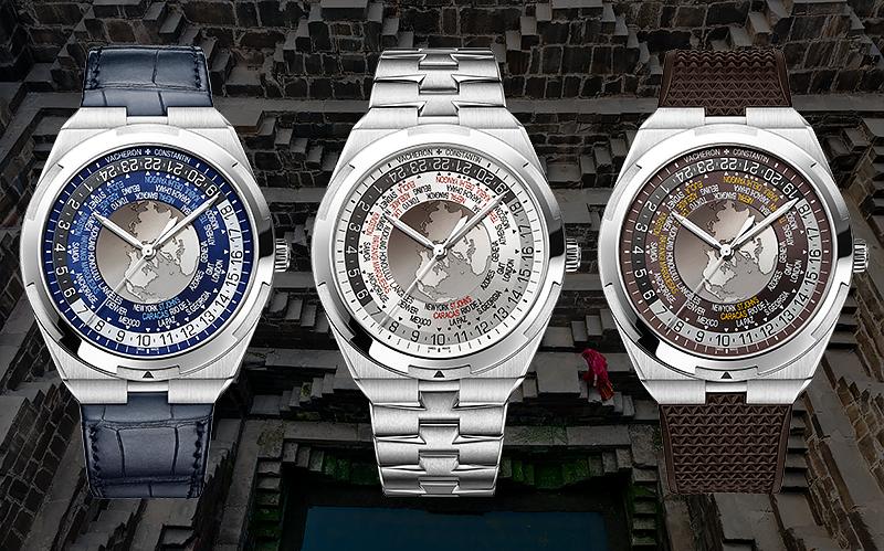 Часы Overseas Worldtime с различными вариантами ремешков