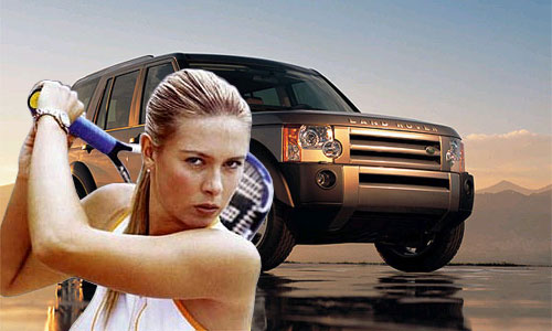 Land Rover подписал рекламный контракт с Марией Шараповой