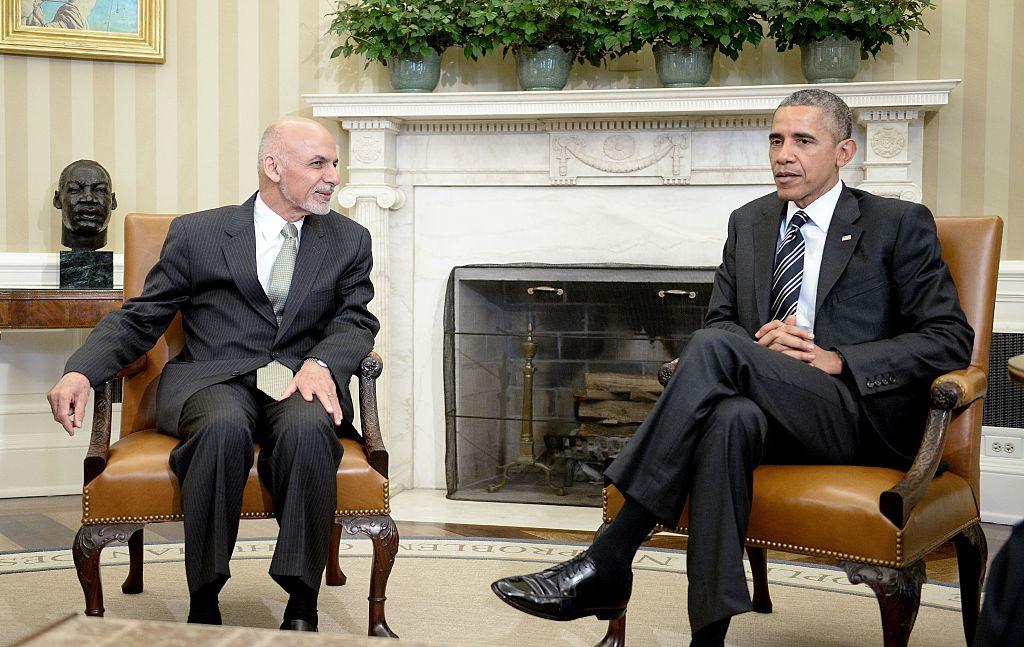 Ашраф Гани Ахмадзай и Барак Обама