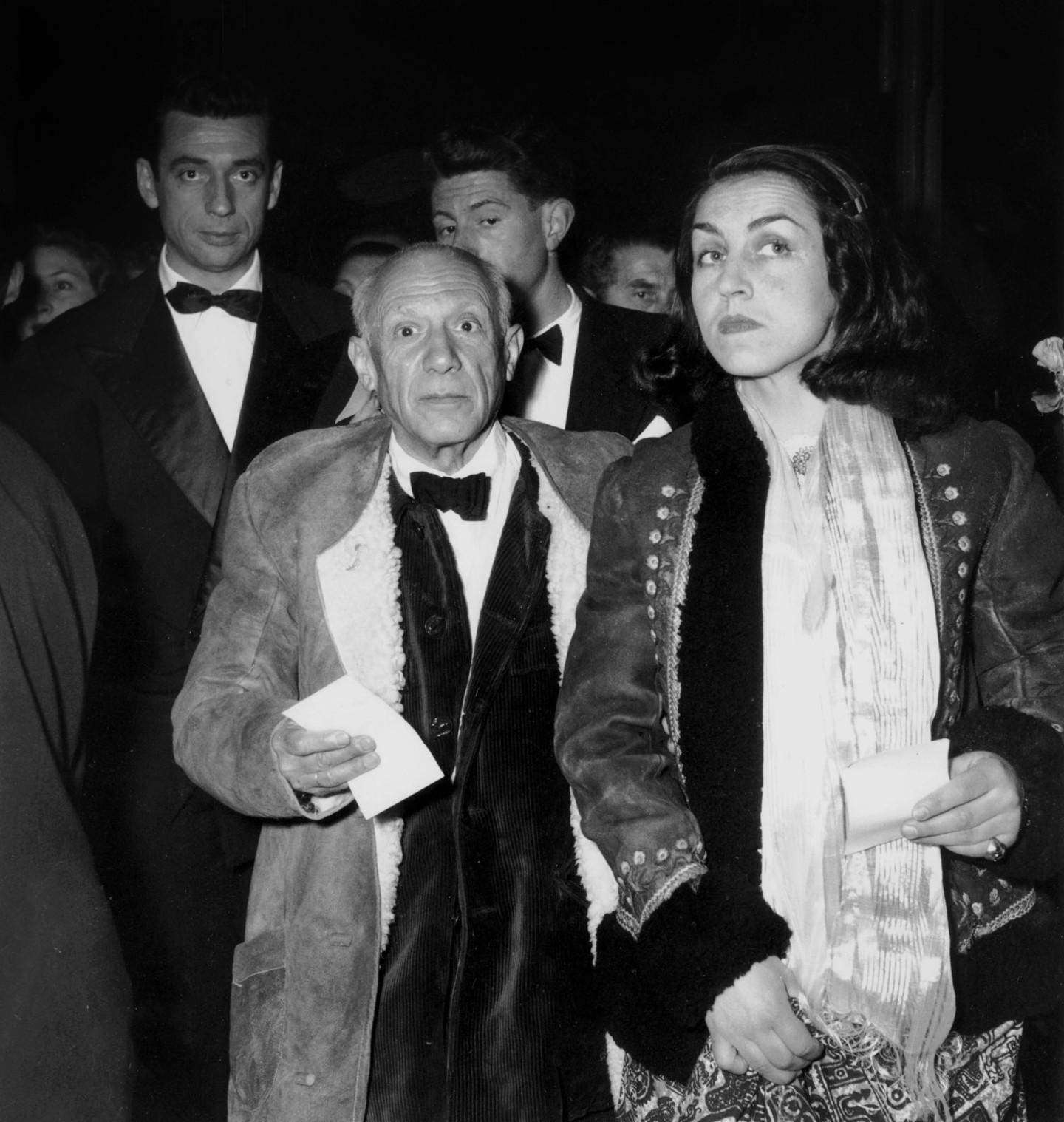 Пабло Пикассо и Франсуаза Жило