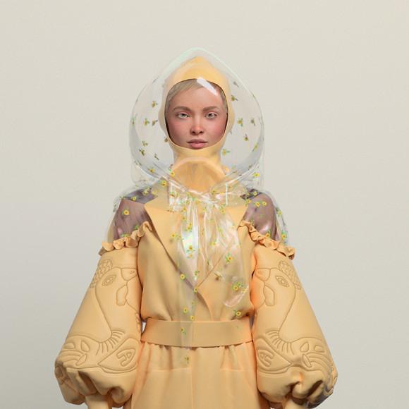 Лукбук Alena Akhmadullina с виртуальной одеждой