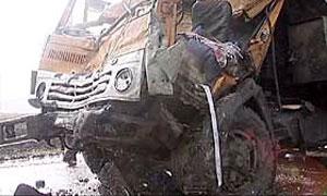 В Тюменской области произошло лобовое столкновение двух МАЗов