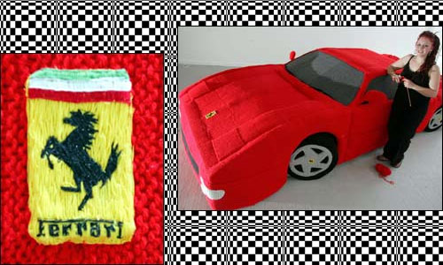 Студентка связала себе Ferrari
